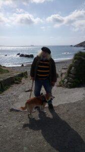 Ralph and Sox at Gunwalloe