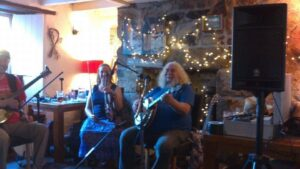 With Sylvia at The Bell, Helston
